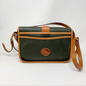 Vintage Dooney & Bourke Crossbody Purse Dark Green